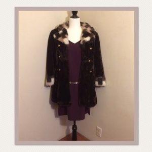 *RARE* Vintage JCPenney Fashions faux fur coat